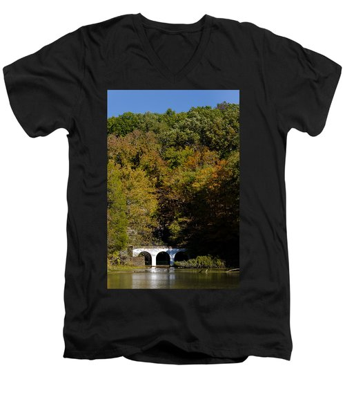 Dunbar Cave And Swan Lake Men's V-Neck T-Shirt