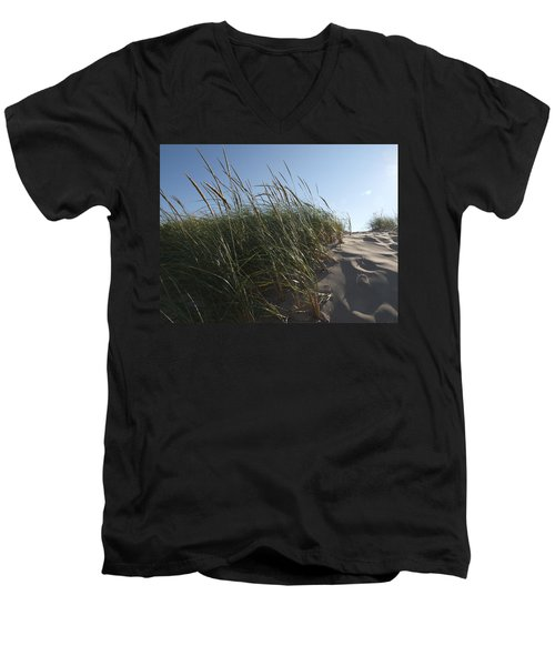 Dune Grass Men's V-Neck T-Shirt by Tara Lynn