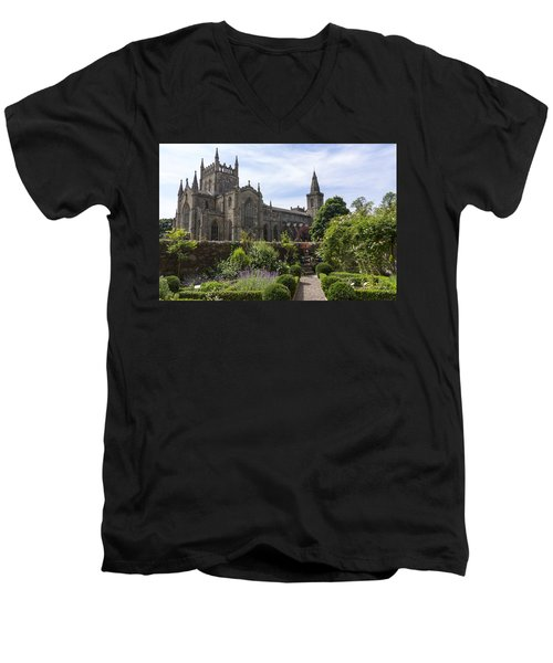 Dunfermline Abbey From The Abbot House Men's V-Neck T-Shirt