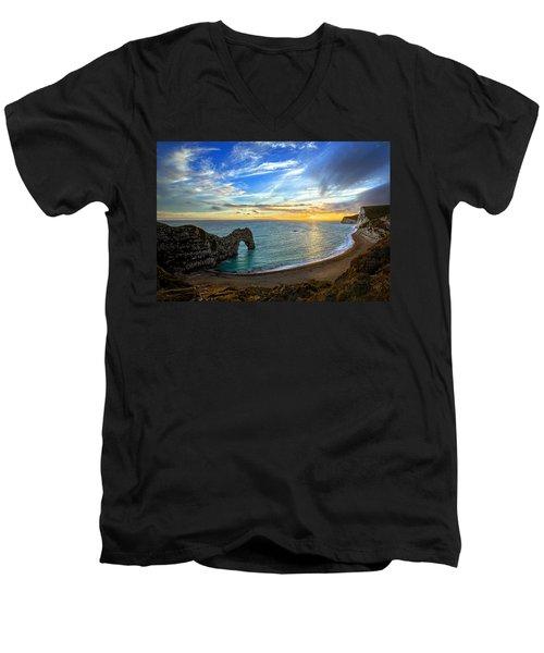 Durdle Door Sunset Men's V-Neck T-Shirt