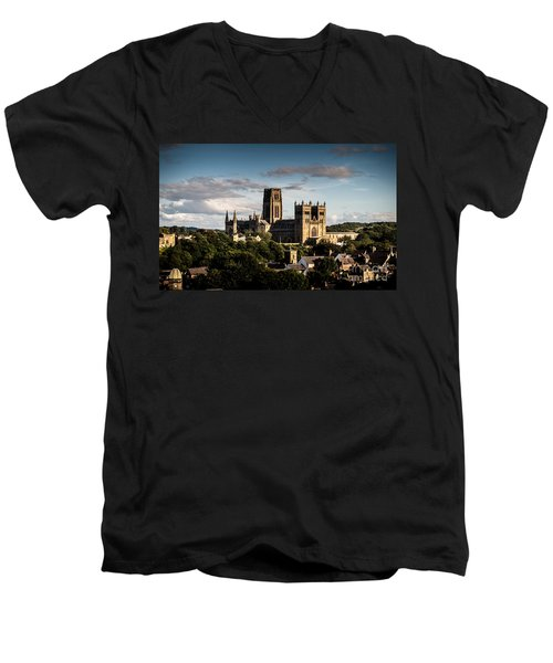 Men's V-Neck T-Shirt featuring the photograph Durham Cathedral by Matt Malloy