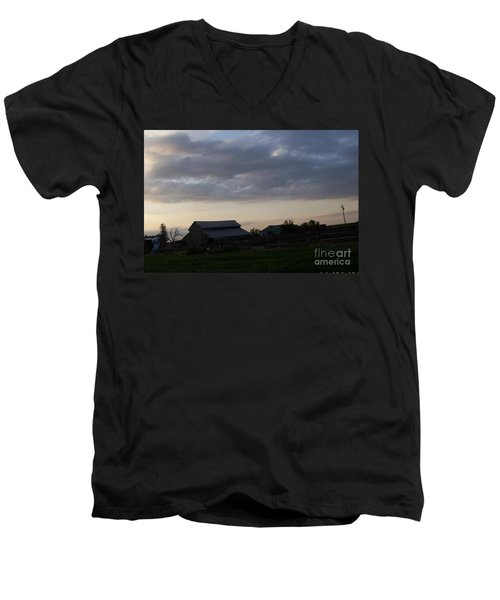 Men's V-Neck T-Shirt featuring the photograph Dusk Til Dawn by Bobbee Rickard