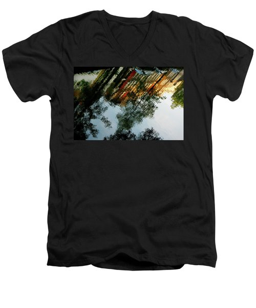 Dutch Canal Reflection Men's V-Neck T-Shirt