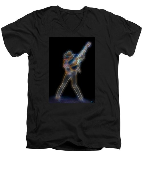 Dwight Noise Men's V-Neck T-Shirt by Kenneth Armand Johnson