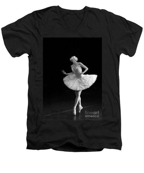 Dying Swan 3. Men's V-Neck T-Shirt