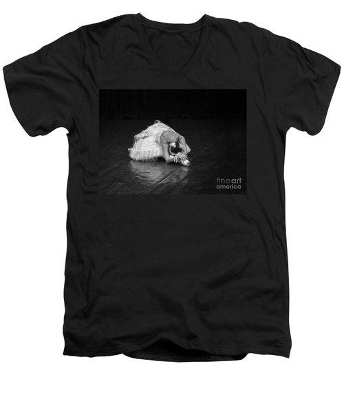 Dying Swan 4. Men's V-Neck T-Shirt