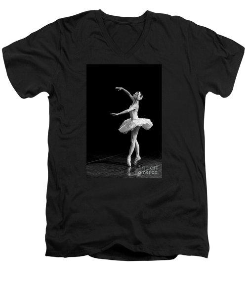 Dying Swan 8. Men's V-Neck T-Shirt