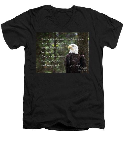 Eagle Scripture Isaiah Men's V-Neck T-Shirt