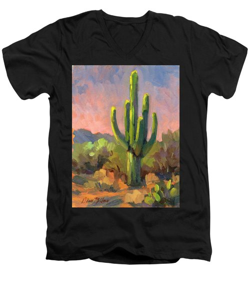 Early Light Men's V-Neck T-Shirt by Diane McClary
