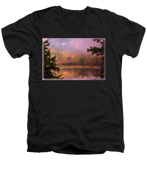Early Morning Beauty Men's V-Neck T-Shirt by Sherman Perry
