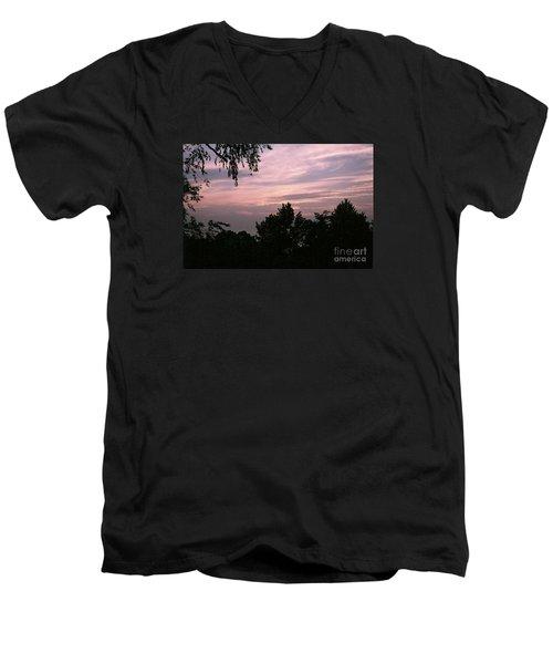 Early Sunrise In Central Illinois Men's V-Neck T-Shirt