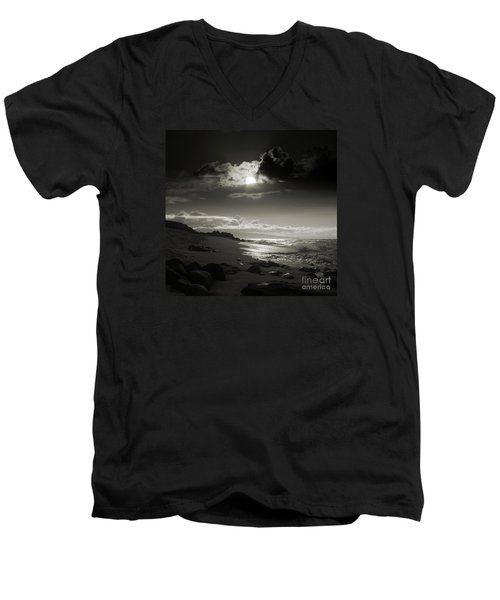 Earth Song Men's V-Neck T-Shirt by Sharon Mau