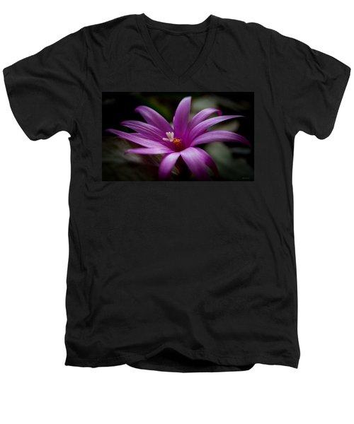 Easter Rose Men's V-Neck T-Shirt by Steven Milner