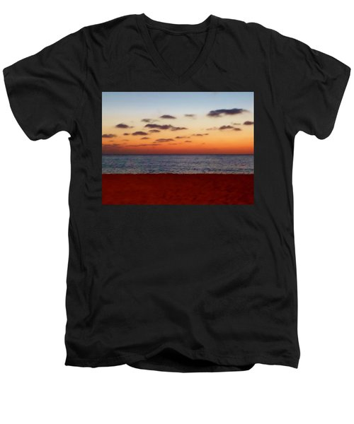 Men's V-Neck T-Shirt featuring the photograph Easter Sunset by Amar Sheow