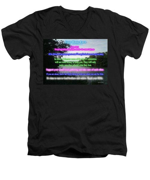 Easy Basic Love Men's V-Neck T-Shirt
