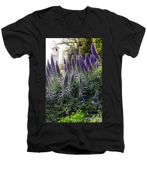 Echium And Tower Men's V-Neck T-Shirt