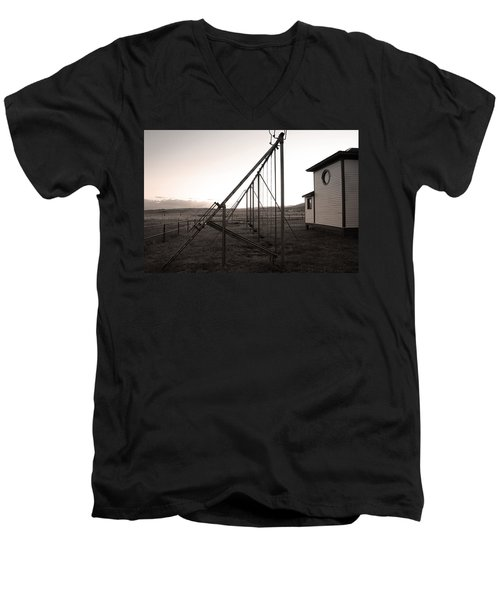 Men's V-Neck T-Shirt featuring the photograph Echoes Of Laughter by Jim Garrison