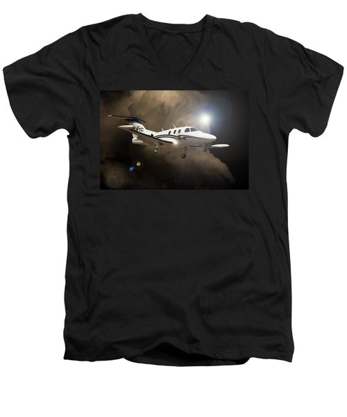 Eclipse Landing Men's V-Neck T-Shirt