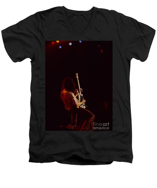 Eddie Van Halen - Van Halen At The Oakland Coliseum 12-2-1978 Rare Unreleased Men's V-Neck T-Shirt