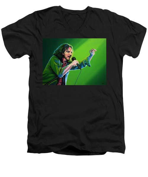 Eddie Vedder Of Pearl Jam Men's V-Neck T-Shirt