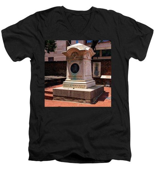 Edgar Allan Poe Tomb Men's V-Neck T-Shirt