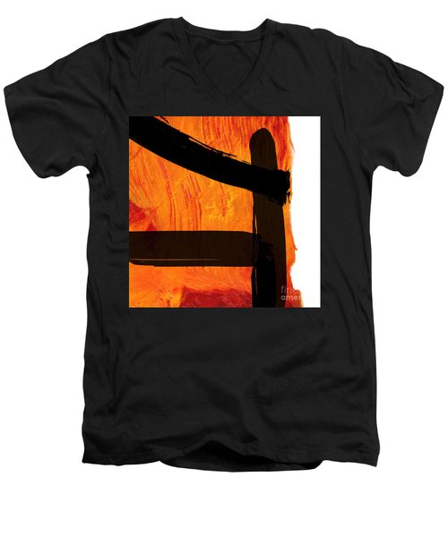 Men's V-Neck T-Shirt featuring the painting Edge IIi by Paul Davenport