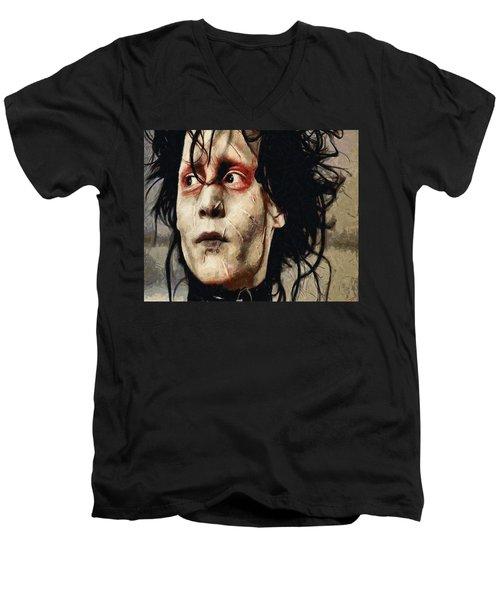 Edward Scissorhands  Men's V-Neck T-Shirt