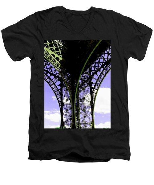 Eiffel Lace Men's V-Neck T-Shirt