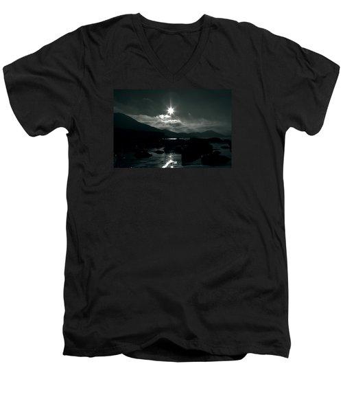 Eight Pointed Star  Men's V-Neck T-Shirt by Aidan Moran