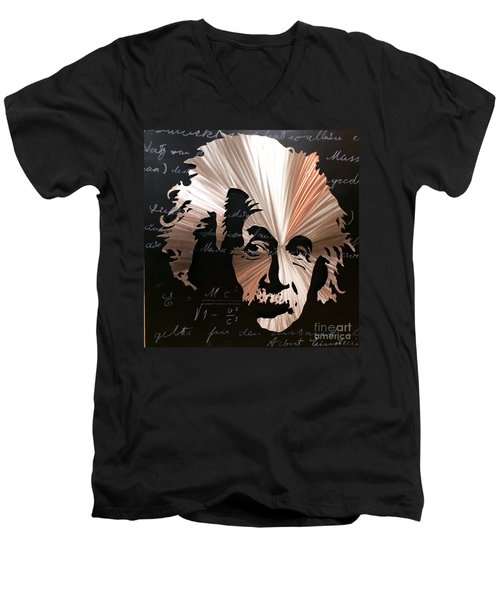 Einstein Men's V-Neck T-Shirt