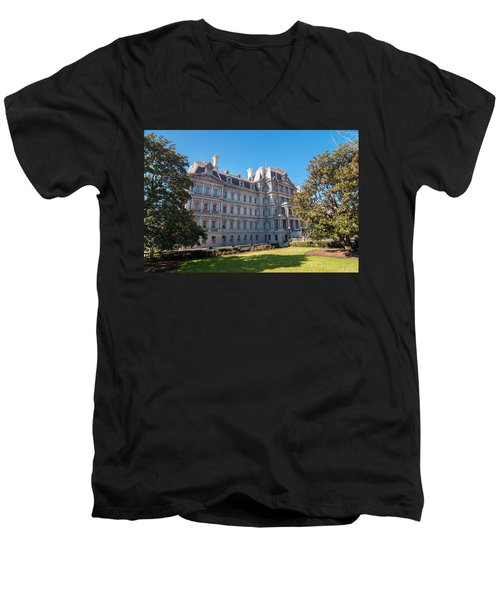 Eisenhower Executive Office Building In Washington Dc Men's V-Neck T-Shirt