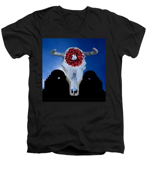 El Dia Los Muertos In Santa Fe Men's V-Neck T-Shirt