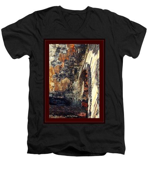 El Morro Arch With Border Men's V-Neck T-Shirt