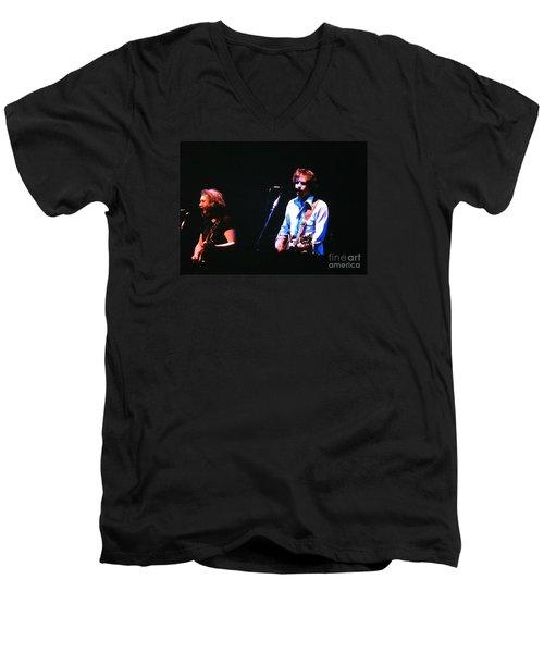 The Grateful Dead 1980 Capitol Theatre Men's V-Neck T-Shirt by Susan Carella
