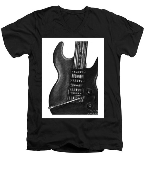 Electric Guitar Men's V-Neck T-Shirt
