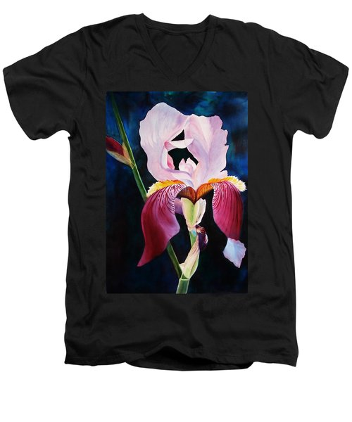 Men's V-Neck T-Shirt featuring the painting Elegance by Marilyn Jacobson