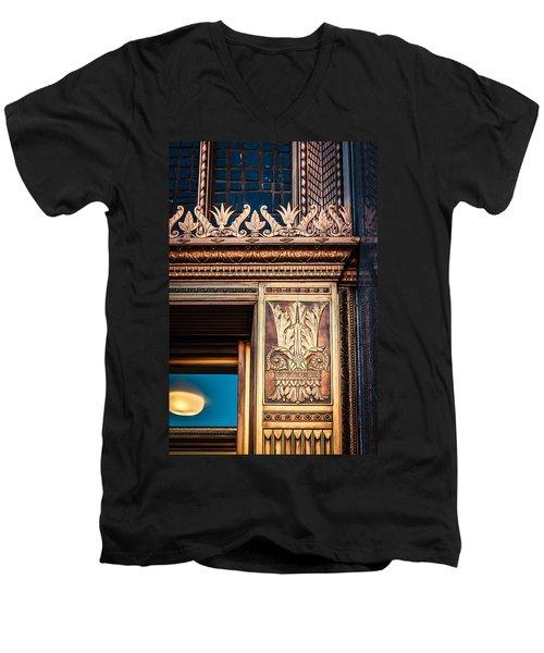 Elegant And Old Men's V-Neck T-Shirt