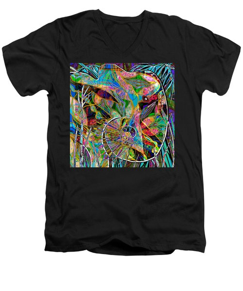 Elephant's Kaleidoscope Men's V-Neck T-Shirt