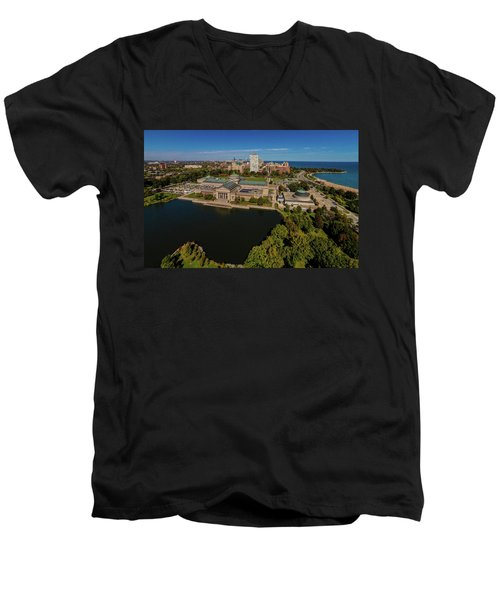 Elevated View Of The Museum Of Science Men's V-Neck T-Shirt