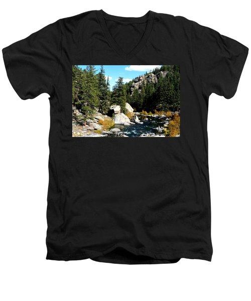 Eleven Mile Canyon Stream Men's V-Neck T-Shirt