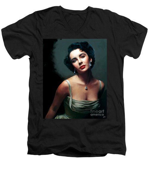 Elizabeth Taylor Men's V-Neck T-Shirt