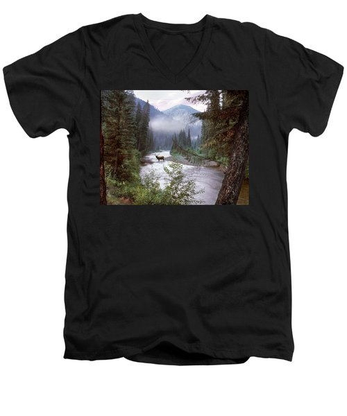 Elk Crossing 2 Men's V-Neck T-Shirt
