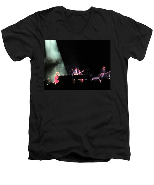 Elton And Band Men's V-Neck T-Shirt by Aaron Martens
