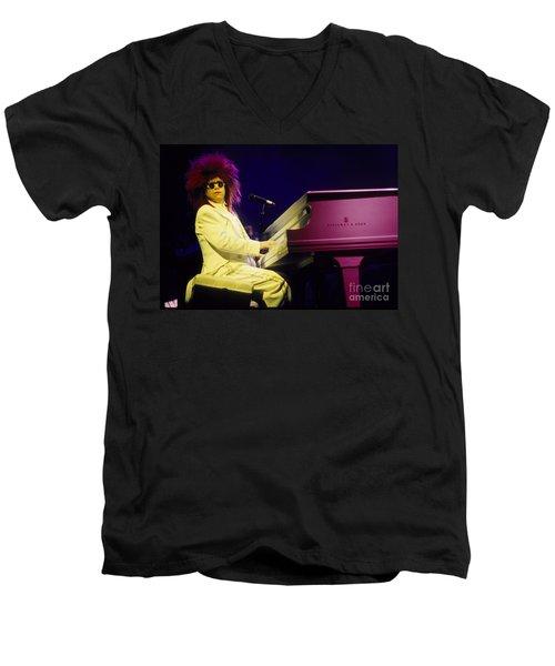 Elton Men's V-Neck T-Shirt by David Plastik