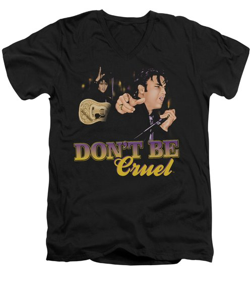 Elvis - Don't Be Cruel Men's V-Neck T-Shirt by Brand A