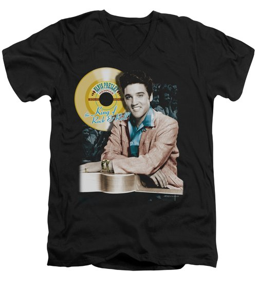 Elvis - Gold Record Men's V-Neck T-Shirt by Brand A