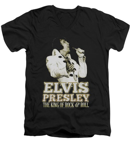 Elvis - Golden Men's V-Neck T-Shirt by Brand A