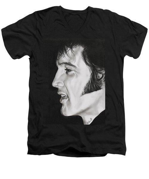 Elvis Presley  The King Men's V-Neck T-Shirt