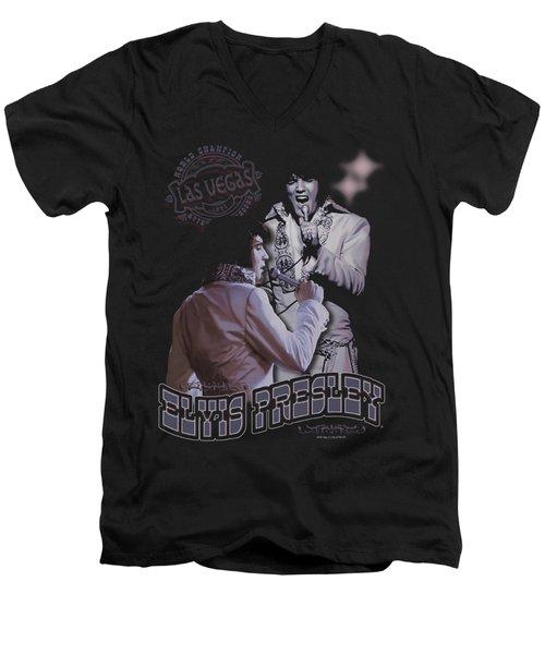 Elvis - Violet Vegas Men's V-Neck T-Shirt