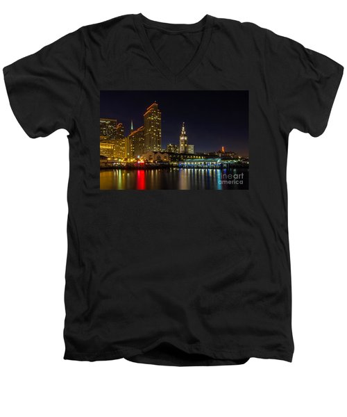 Embarcadero Blue Hour Men's V-Neck T-Shirt